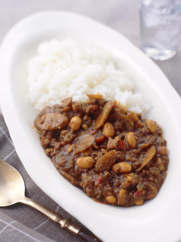 大豆とごぼうのカレー