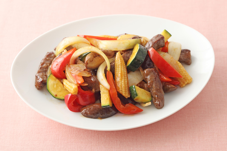 牛肉といろどり野菜のいためもの